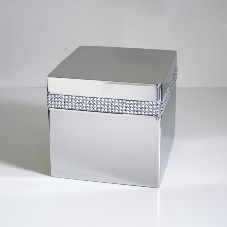 CRYSTAL CUBE URN MADE WITH SWAROVSKI ELEMENTS